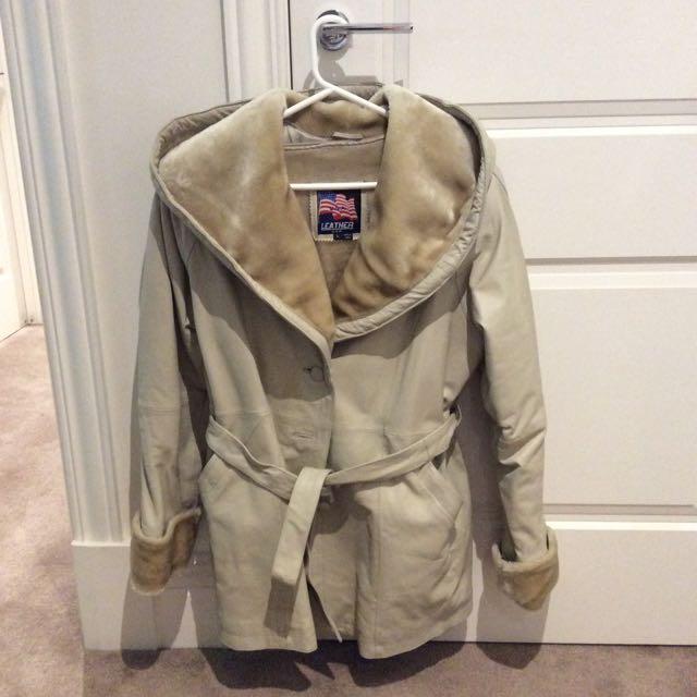 USA leather Coat