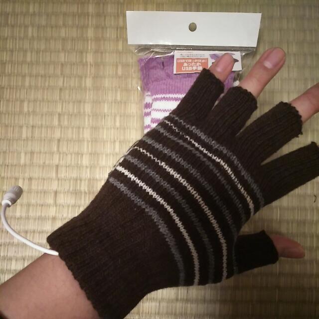 冬日寒流必備~USB發熱手套~上班族聖品