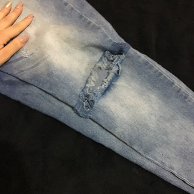 ValleyGirl Ripped Distressed Jeans Blue