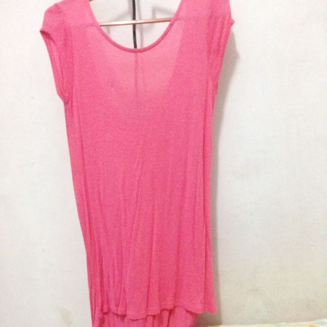 ZARA PINK LONG BLOUSE