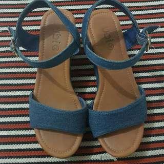 Sale! Preloved RUBI Denim Wedges Size 36