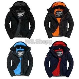 正品最低價 極度乾燥 外套 連帽 保暖 正品 防風 防水 連帽外套 superdry 風衣 windcheater