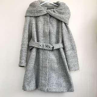 Zara Boucle Wool Coat