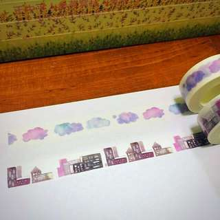 15mm*10m The Clouds And Houses Series Washi Tape!!