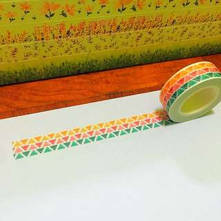 15mm*10m 3-tone Tribal Washi Tapes!