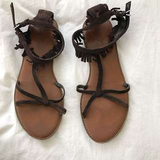 American eagle Fringed Sandals