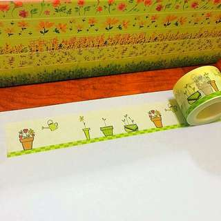 30mm*10m Watering My Flower Pots Washi Tapes!!