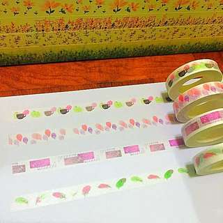 10mm*10m The Tea Time Balloon Invitation Feels As Light As The Feathers Washi Tapes!!