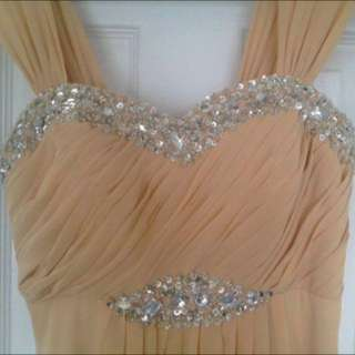 FLOOR LENGTH PROM DRESS GOWN (size 4/6)
