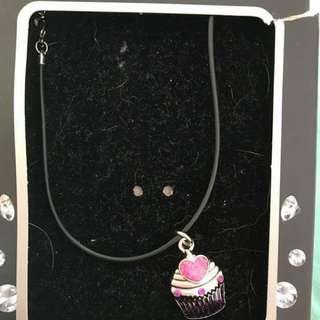 Cupcake Necklace With Swarkovski Elements