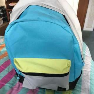 Blue And Grey Quiksilver Bag