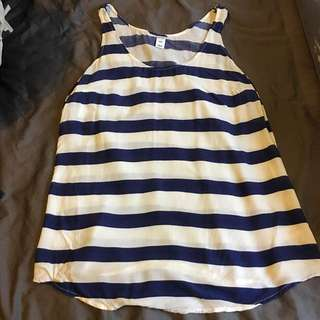 Nautical Blue And White Stripped Tank