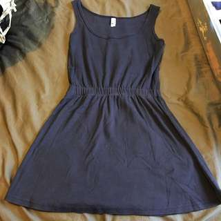 Navy Blue American Apparel Cotton Dress