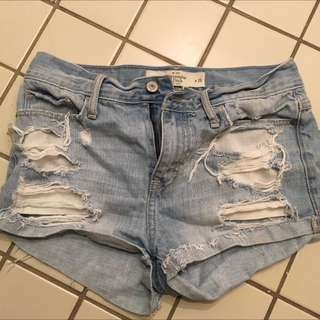 Abercrombie Size 2 Jean Shorts