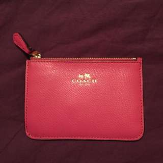 Pink Mini Coach Wallet