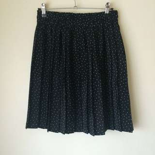 Vintage Pleated Polka Dot Skirt