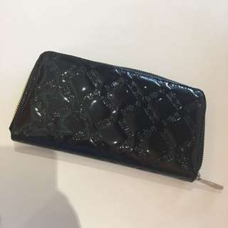 David Jones Black Patent Wallet