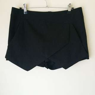 Paradisco 'Black Asymmetrical Skort'