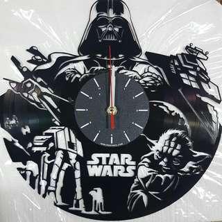 Starwars Record Clock