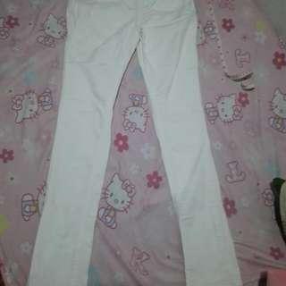 White Earl Jean Pants