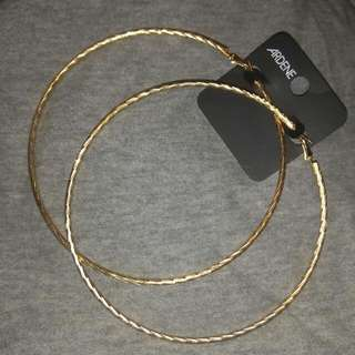 Large Gold Hoop Earrings Brand New
