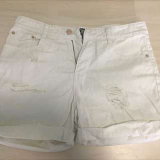 Camilla And Marc White Denim Shorts Size 10