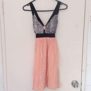 REVERSE Peach Party Dress