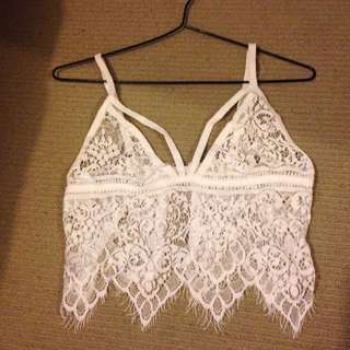 Lace Sheer Bralette Top