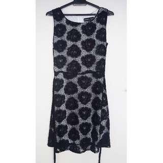 BRAND NEW! Mela love London Black Flower Dress