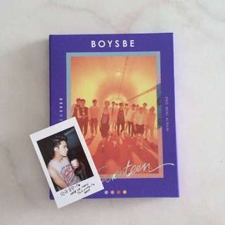 SEVENTEEN BOYS BE (BLUE VER) + MINGYU 2nd TYPE PC (rare)