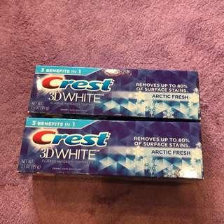 Crest 3D美白牙膏
