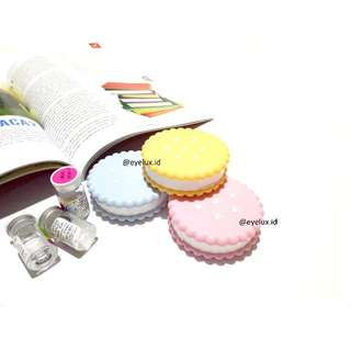 Lens Case / Softlens Case / Tempat Softlens Biscuit Design
