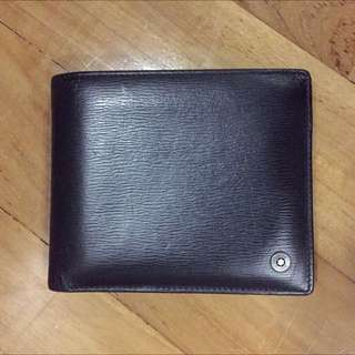 Mont Blanc Men's Black Leather Wallet