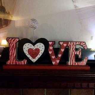 """Love"" Photo Holder"