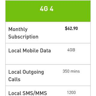 Starhub postpaid mobile contract (4G 4) with 10%corporate Discount
