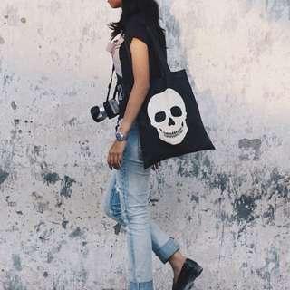 PINX Skull Tote bag