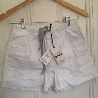 BNWT White Denim Shorts SUPRE