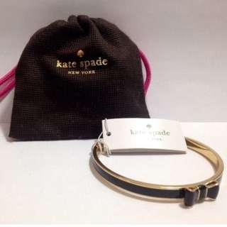 Authentic Kate Spade Black Bow Bangle