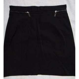 H&M Black Basic Short Skirt