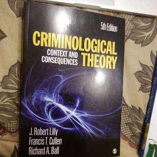 Criminological Theory Context And Consequences