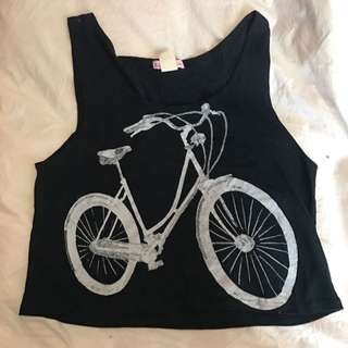 Bicycle Printed Crop Top