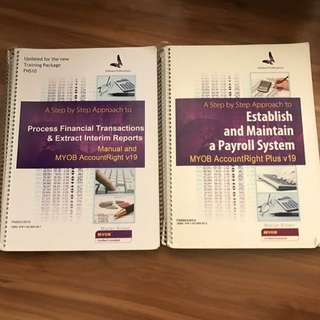 MYOB workbooks
