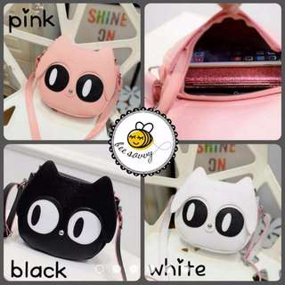 Kawaii Cat Head Sling Bag