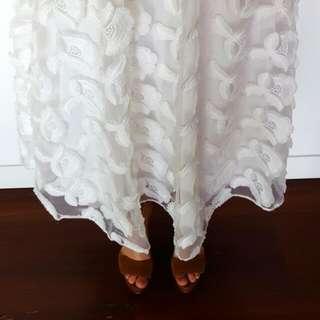 Seed Heritage White Flower Skirt