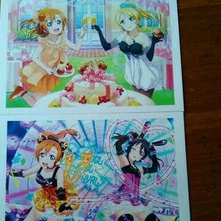 lovelive 明信片postcard
