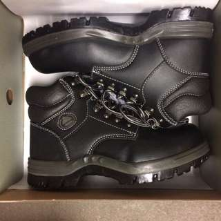 Steel Cap Black Boots