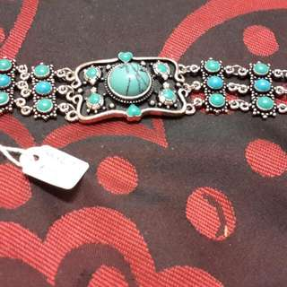 Designer Artist From Mexico Turquoise 925 Bracelet Unisex