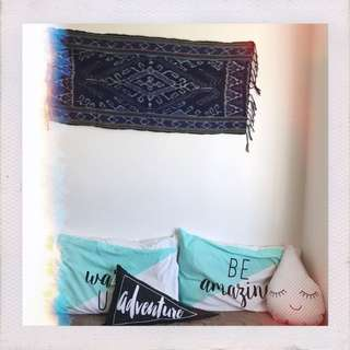 Aztec Print wall Tapestry With Fringe