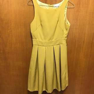Mustard Coloured Summer Dress