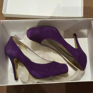 Mollini Purple Suede Pumps Size 6